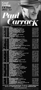Paul Carrack Tour Poster