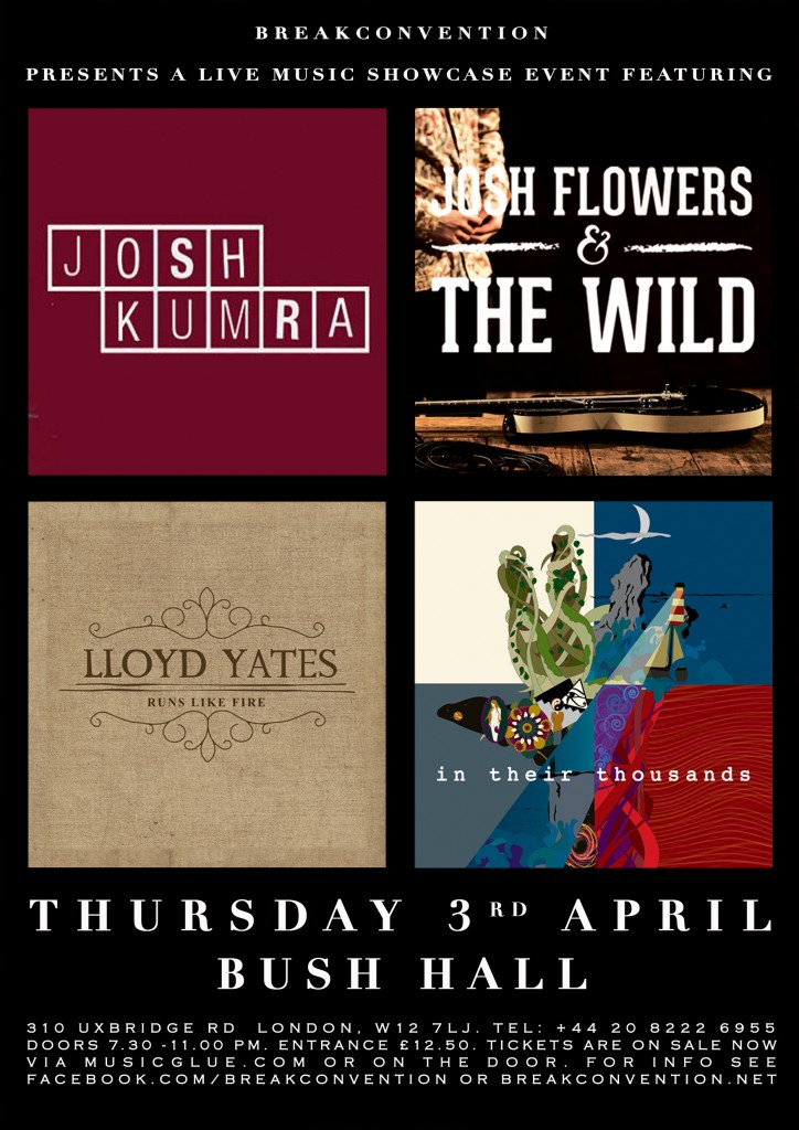 Bush Hall Showcase - Poster 03.04.14