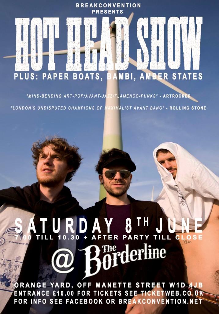 Hot head show Poster 08.06.13